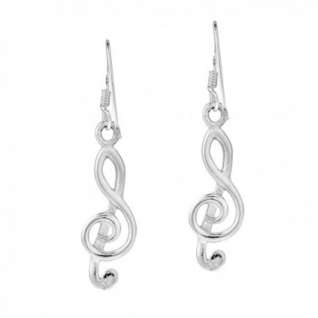 Melody Sterling Silver Treble Earrings in Women's Drop & Dangle Earrings