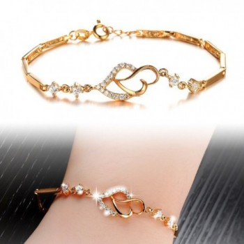 Jewelry18k Plated Elegant Bracelet Wedding in Women's Link Bracelets