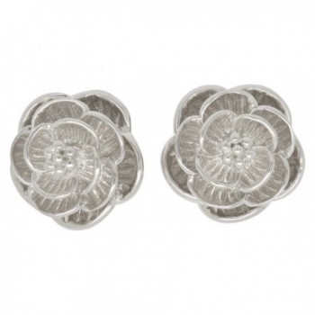 Sterling Silver Blooming Flower Earrings