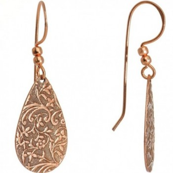 Body Candy Floral Swirl Teardrop Dangle Earrings - CE11KBFNEPT