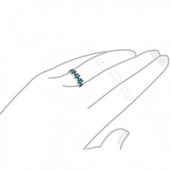 Sterling Silver Synthetic Opal Plumeria in Women's Band Rings