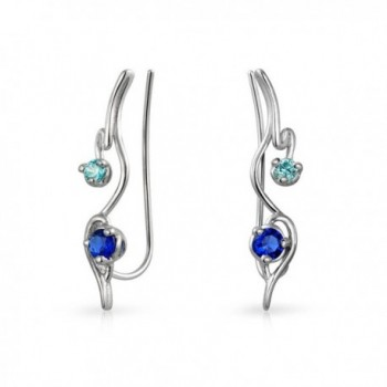 Bling Jewelry Sterling Simulated Sapphire