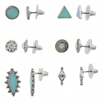 Lux Accessories Boho Turq Multi Earring Set (6PC) - C212HHCWIIR