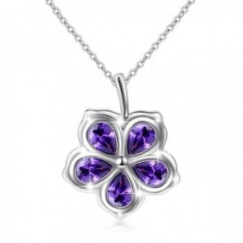 "925 Sterling Silver CZ Flower / Olive Leaf Charm Pendant Necklace Gift for Women Girls-18"" - CR1884K4YZT"