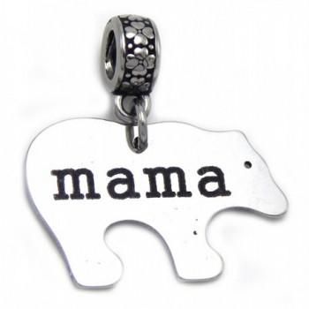 GemStorm Stainless Steel Dangling Mama Bear For European Snake Chain Bracelets 0089871 - C7182XRH8K6