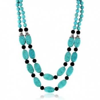 Stunning Simulated Turquoise Necklace Earrings