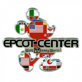 Disney Mickey Mouse Silhouette Epcot Center Logo Pin - Walt Disney World - CI17XXS8LLO