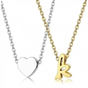 LOYALLOOK Stainless Necklace Alphabet extender - C8187IHZY3X