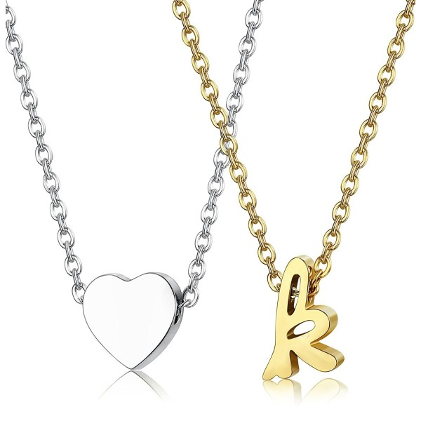 LOYALLOOK Stainless Necklace Alphabet extender - C8187IHZY3X