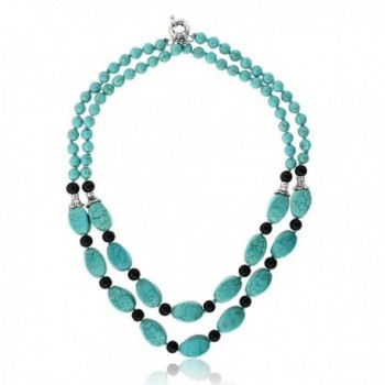 Stunning Simulated Turquoise Necklace Earrings in Women's Jewelry Sets