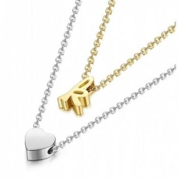 LOYALLOOK Stainless Necklace Alphabet extender in Women's Pendants