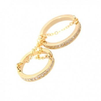 chelseachicNYC Crystal Double Layer Chain Knuckle Ring - CM12EBQKI2Z
