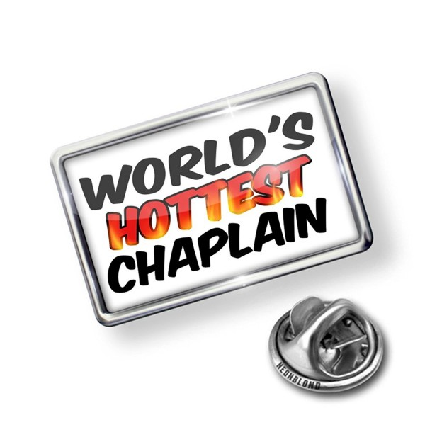 Pin Worlds hottest Chaplain - Lapel Badge - NEONBLOND - CE11PY4HHUP