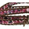 Luos Simulated Gemstone Geniune Bracelet