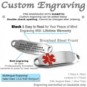 MyIDDr Pre Engraved Customized Diabetic Bracelet