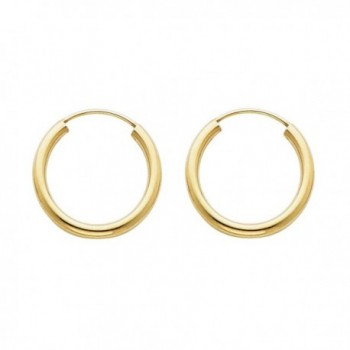 14k Yellow Gold 2mm Thickness Endless Hoop Earrings (18 x 18 mm) - CT116GOXK85