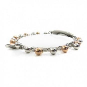 MyIDDr Pre Engraved Customized Diabetic Bracelet in Women's ID Bracelets