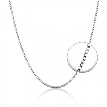 """925 Sterling Silver Chain Necklace Lightweight Diamond Cut Link Necklace Curb Chain Necklaces 18"""" - Silver 3 - C012O16Y3DR"""