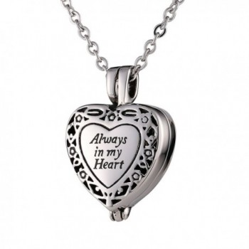 Beydodo Neckalce Stainless Cremation Necklace - Silver - C3187Y43L5A