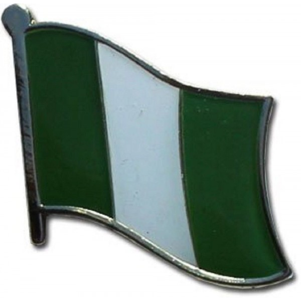 Nigeria Country Flag Small Metal Lapel Pin Badge ... 3/4 X 3/4 Inches ... New - CY1182G9X4P