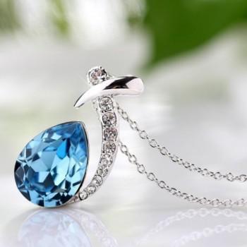 T400 Jewelers Waterdrop Necklace Swarovski in Women's Jewelry Sets