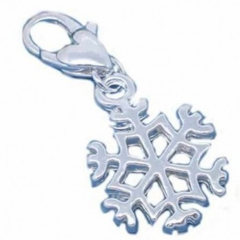 Clip on Snowflake Charm for European Jewelry w/ Lobster Clasp - CO11FIZWXW7