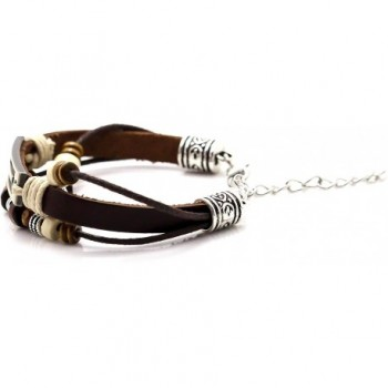 Wristband Bangle Leather Bracelet Jewelry in Women's Link Bracelets
