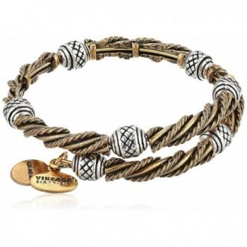 Alex and Ani Womens Relic Wrap Bracelet - Two Tone - CJ182XGIAG5