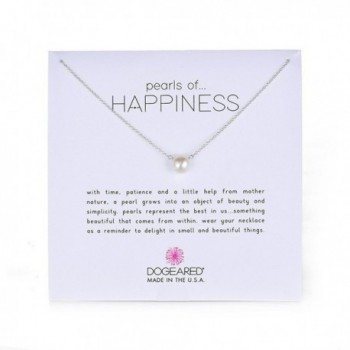 Dogeared Jewels & Gifts Pearls of Happiness Freshwater Pearl (8mm) Necklace - white - C6114O28Y37