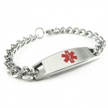 MyIDDr - Childrens Pre-Engraved & Customizable Diabetic Medical ID Bracelet - Wrist Size 5in+ - C711CKEQ73F