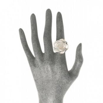 JanKuo Jewelry Rhodium Zirconia Cocktail in Women's Statement Rings