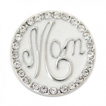 Interchangeable Snap Jewelry Enamel Mom - Mother Snap Rhinestone by My Gifts - CJ17AZ9RZR9