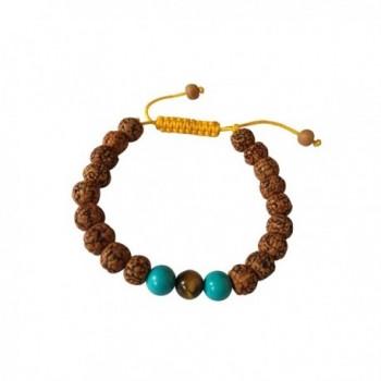 Tibetan Rudraksha Bracelet Turquoise Spacers