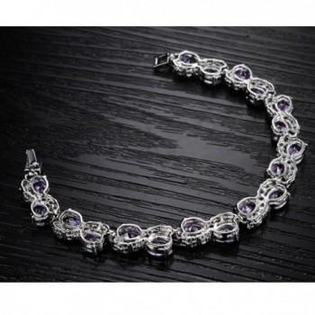 Jade Angel Platinum Zirconia Bracelet in Women's Tennis Bracelets