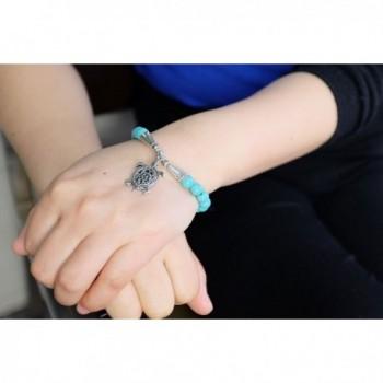 Falari Natural Bracelet Turquoise B0004 TQ in Women's Stretch Bracelets
