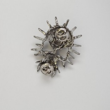 Gothic Spiked Jacket Antique Silver in Women's Brooches & Pins