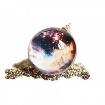 Universe Fashion Pendant Necklace- Beautiful Cosmic Handmade Art Jewelry for Women - C2184S5ELNW