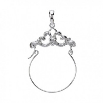 Charm Holder by Million Charms- Sterling Silver Scroll Framed Charm Holder for Keepsake Charms and Pendants - CO11CSD15FN
