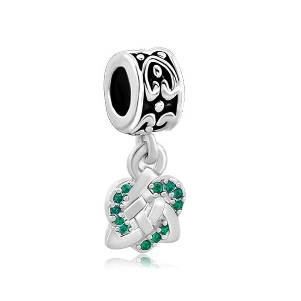 CharmsStory Celtic Knot Charm Spacers Dangle Beads For Bracelets - CP127JBKKDL