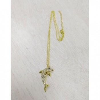 NOUMANDA Dolphin Crystal Pendant Necklace
