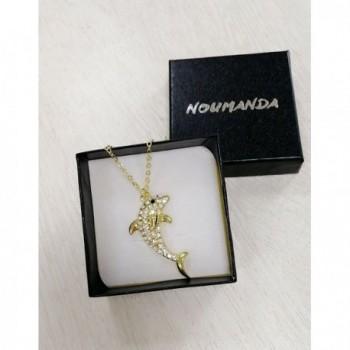 NOUMANDA Dolphin Crystal Pendant Necklace in Women's Pendants