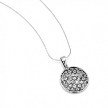 Sterling Silver Mandala Pendant Necklace