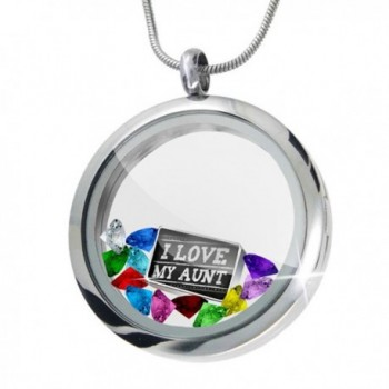 Floating Locket Set Chalkboard with I Love my Aunt + 12 Crystals + Charm- Neonb - CN11I4QDT39