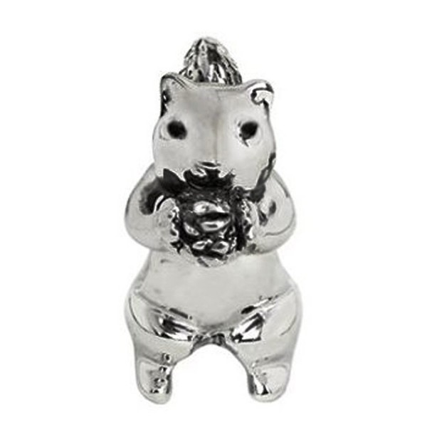 Jovana Sterling Silver Cute Squirrel Bead Charm- Fits European Charm Bead Bracelets - CT116C2BHCR