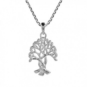 Intertwined Tree Of Life Branches Binding Root .925 Sterling Silver Necklaces - CV126ZHRMTF