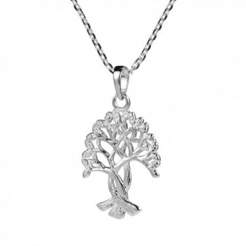 Intertwined Branches Binding Sterling Necklaces