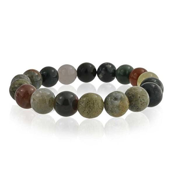 Bling Jewelry Multi Color Simulated Fancy Jasper Bead Stretch Bracelet - C311EE71M7H