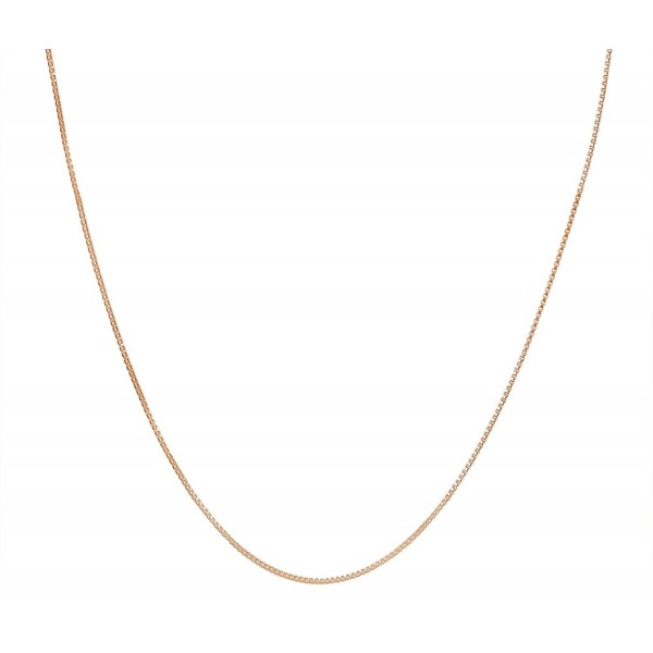 "Children's .8mm Thin Box Chain Italian 12"" Necklace Available in 18K Gold Plated or Solid Sterling Silver - C3180K8MI49"