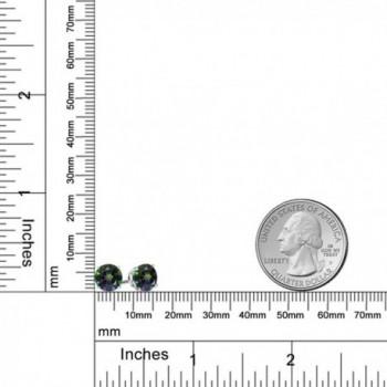 Sterling Silver Mystic Topaz Women's Green Stud Earrings (3.00 cttw- 7MM Round) - CC11U5ZL3HL