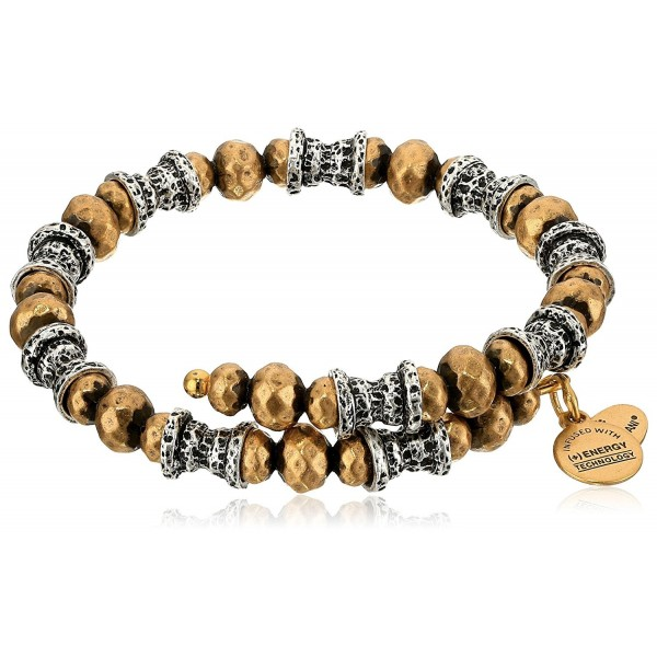 Alex and Ani Womens Aztec Wrap - Two-Tone - C212IBVM7OD